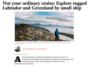 Adventure Canada – LA Times