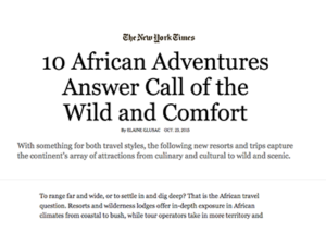Exodus Travels & Quench Trip Design – The New York Times
