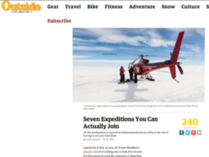 Adventure Canada – Outside Magazine