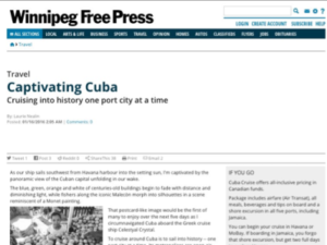 Cuba Cruise – Winnipeg Free Press