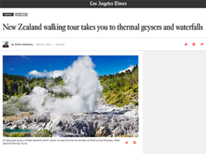 New Zealand Walking Tours – LA Times