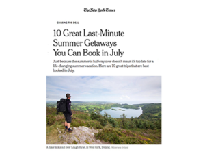 Exodus Travels, Wilderness Ireland, Nat Hab – The New York Times